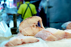 Fresh fish meat on ice Royalty Free Stock Photos