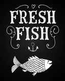 Fresh fish poster Stock Photo