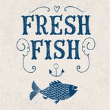 Fresh fish poster Royalty Free Stock Image