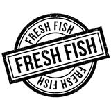 Fresh fish rubber stamp Royalty Free Stock Photo
