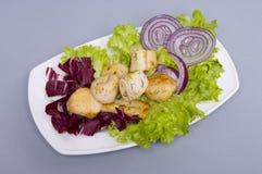 Fresh fish salad Royalty Free Stock Photography