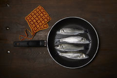 Fresh fish, sea bass. Ready for cooking Royalty Free Stock Image
