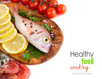 Fresh fish and seafood Royalty Free Stock Images