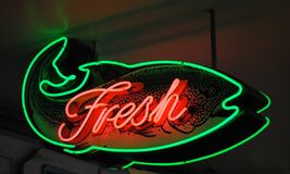 Fresh Fish Sign Royalty Free Stock Photography