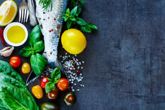 Fresh fish with spices Royalty Free Stock Image
