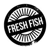 Fresh fish stamp. Grunge design with dust scratches. Effects can be easily removed for a clean, crisp look. Color is easily changed Stock Photography