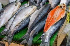 Fresh fish in street market Royalty Free Stock Photo