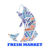 Fresh Fish text cloud collage Royalty Free Stock Image