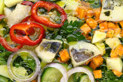 Fresh fish and vegetable soup Royalty Free Stock Photos