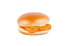 Fresh fishburger isolated on white background Stock Images