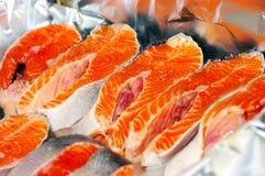 Fresh fishe steaks Stock Image