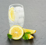 A fresh fizzy lemon drink Stock Photo