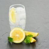 A fresh fizzy lemon drink Stock Photo