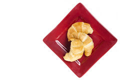 Fresh flakey buttery croissants from Overhead Stock Photography