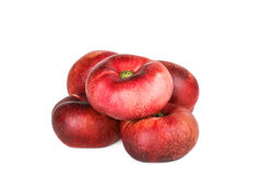Fresh flat peach fruits Royalty Free Stock Photo