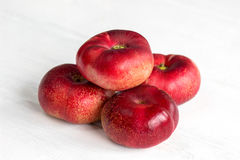Fresh flat peach fruits Stock Photography