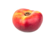 Fresh flat peach Royalty Free Stock Image