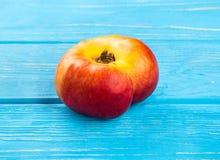 Fresh flat peach Royalty Free Stock Photo