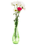 Flower arrangement isolated on white royalty free stock photo