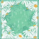 Fresh floral background with daisies Stock Images