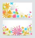 Fresh floral banner Stock Image