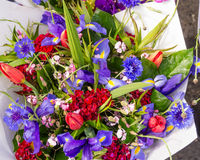 Fresh floral bouquets at the market Stock Photo