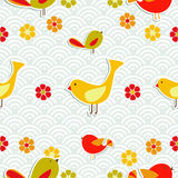Fresh floral season pattern Royalty Free Stock Photo