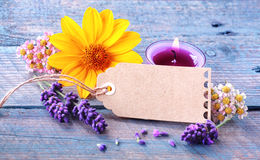 Fresh floral wellness and spa still life Royalty Free Stock Photos