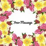 Fresh flower background Stock Images