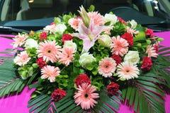 Fresh flower basket Stock Photo