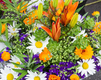 Fresh flower bouquet at the market Stock Images