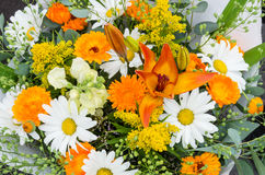 Fresh flower bouquet at the market Royalty Free Stock Photos