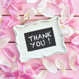 Fresh flower petals on pink. Fresh tulips petals on pink rustic wooden boards Stock Photos