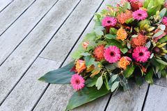Fresh flowers for cemetery. Royalty Free Stock Image