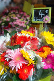 Fresh flowers on sale at farmers market Royalty Free Stock Photos