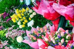 Fresh flowers at a street market (Kuala Lumpur - Malaysia) Royalty Free Stock Photo