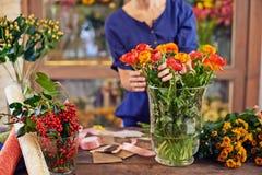 Fresh flowers in vase Royalty Free Stock Image