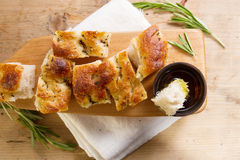 Fresh focaccia from the bakery Stock Photo