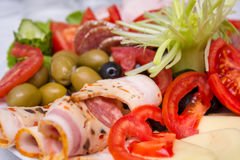 Fresh food aperitif Stock Images