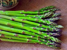 Fresh food : asparagus Stock Photos