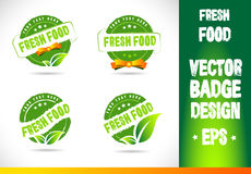 Fresh Food Badge Vector Stock Photography