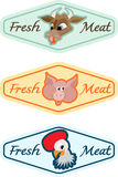 Fresh food badges Royalty Free Stock Image