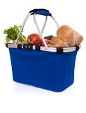 Fresh food: basket of groceries Royalty Free Stock Images