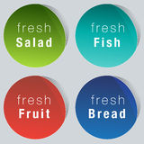 Fresh Food Choice Icon Set Royalty Free Stock Images