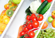 Fresh food in the fridge Royalty Free Stock Images