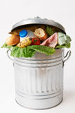 Fresh Food In Garbage Can To Illustrate Waste Royalty Free Stock Photography