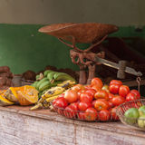 Fresh Food, Havana Cuba. Fresh food at a street market in Havana Cuba Royalty Free Stock Image