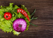 Fresh Food ingredients vegetables on the tabel. 3 Royalty Free Stock Image