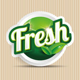 Fresh food label, badge or seal Royalty Free Stock Photo
