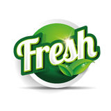 Fresh food label, badge or seal Stock Photography